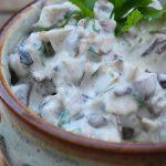 Salata de hribe cu iaurt