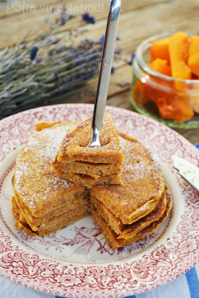 pancakes cu dovleac si nuca