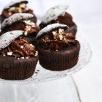 Muffins cu ciocolata si visine