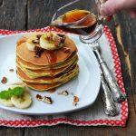Pancakes cu banane si ciocolata