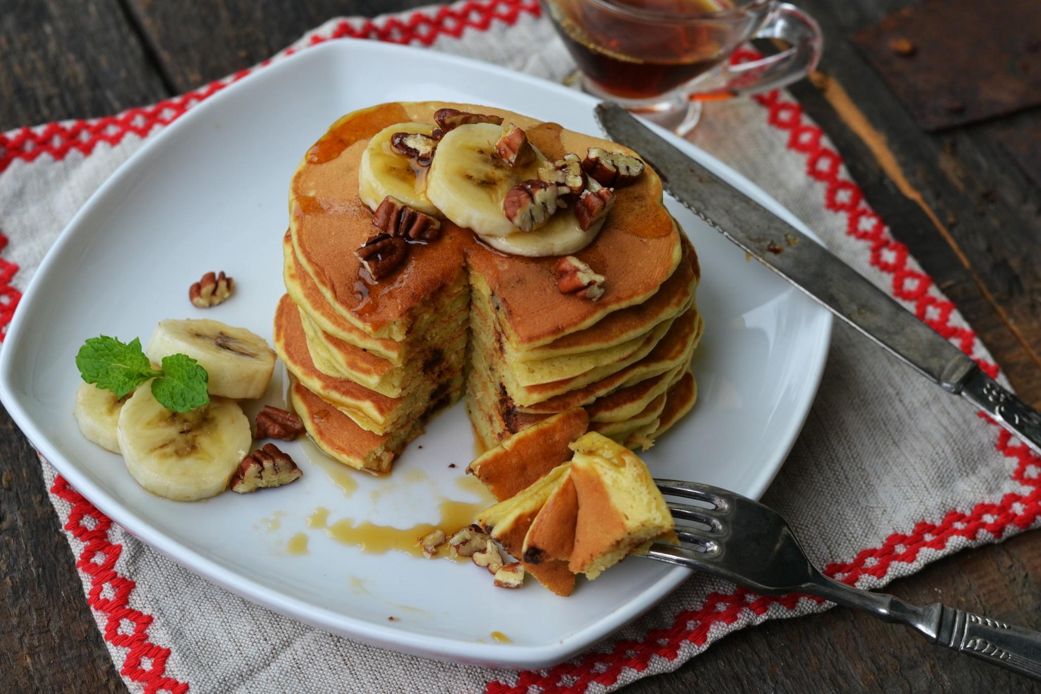 pancakes cu banane si ciocolata (6)