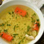 Supa de pui cu legume si paste fara gluten