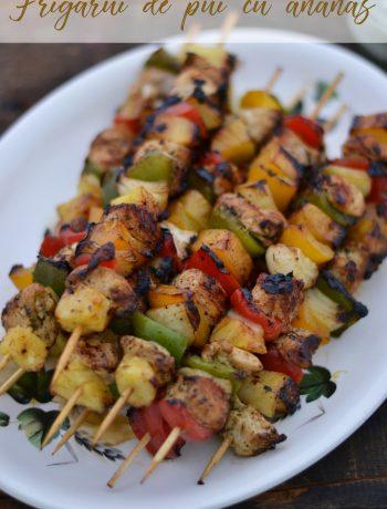 frigarui de pui cu legume si ananas