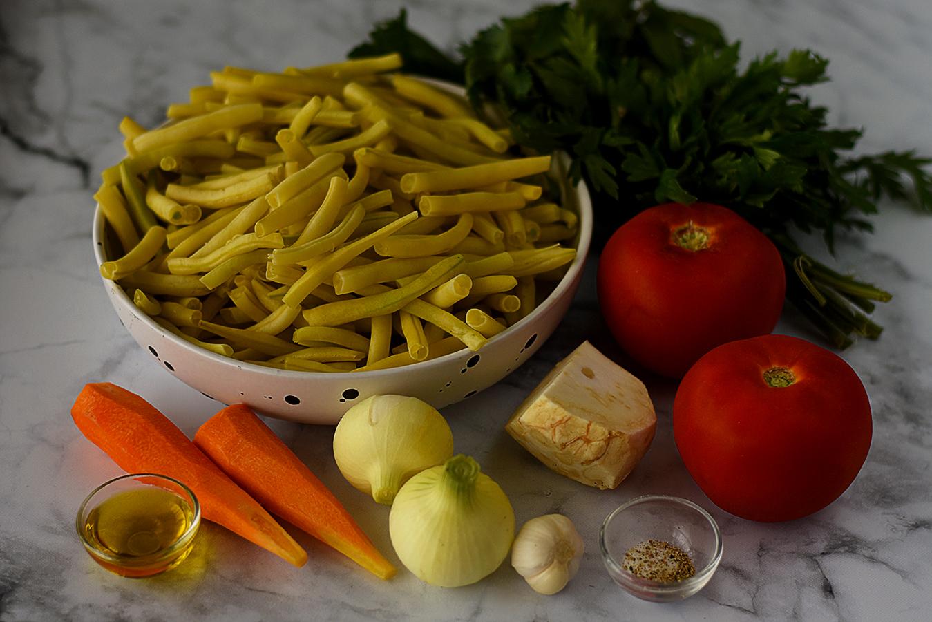 Ciorba de fasole galbena pastai