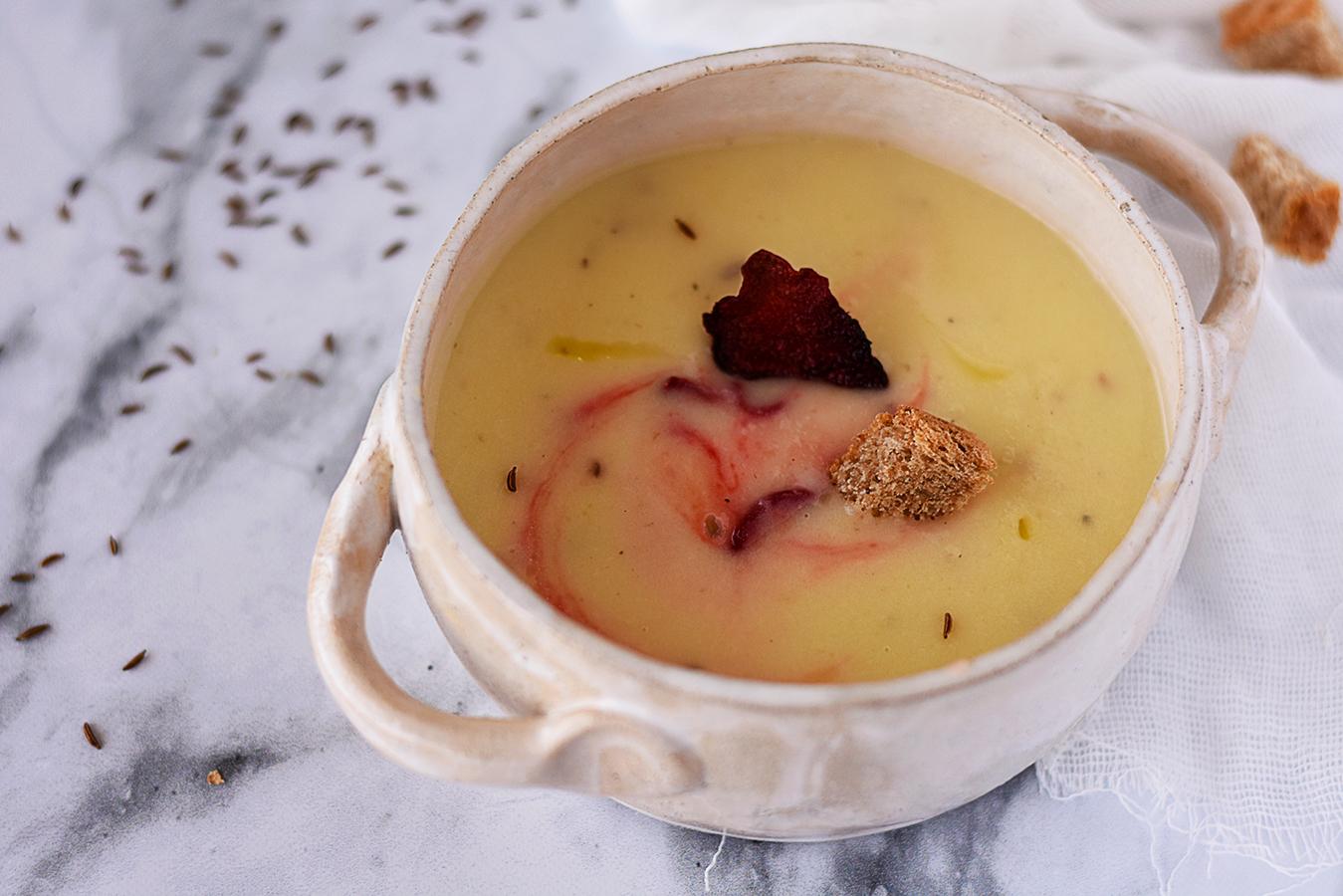 Supa crema de cartofi si telina