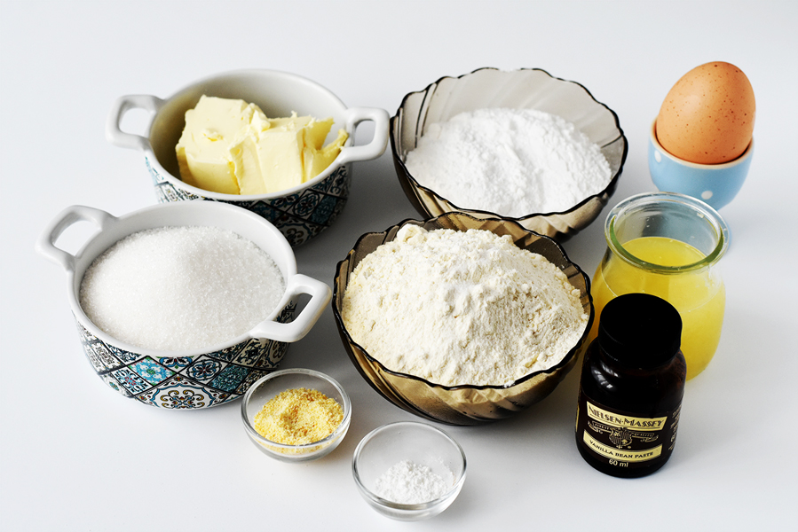 Ingrediente Briose cu lamaie si nuca de cocos