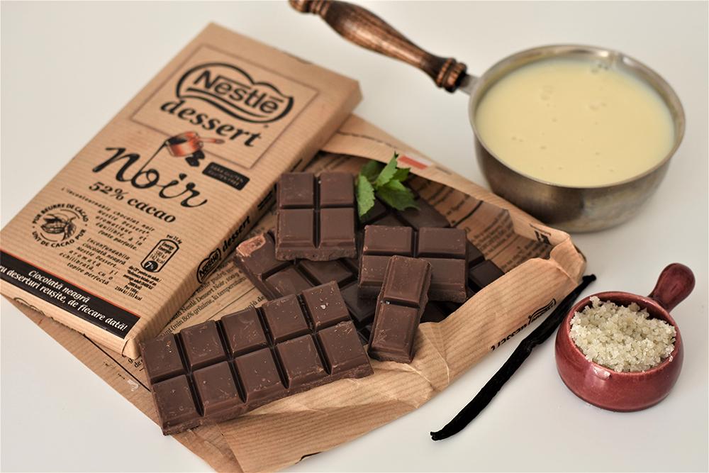 Ingrediente - Fudge de ciocolata cu lapte condensat si sare