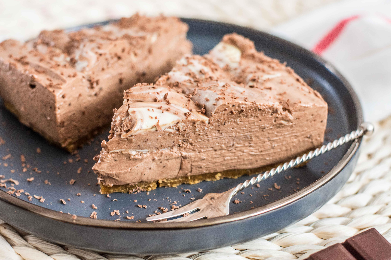 Cheesecake marmorat cu ciocolata